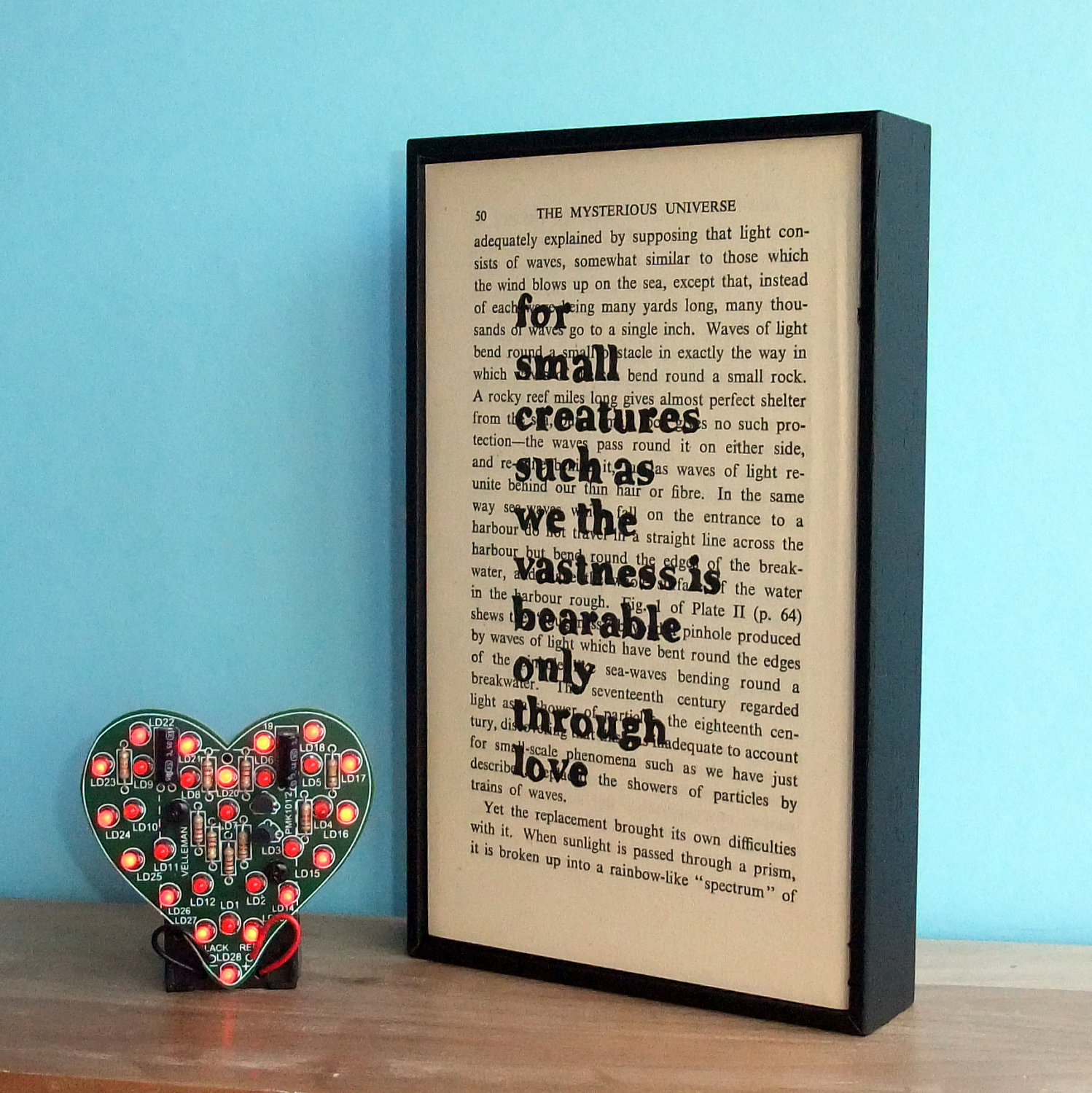 Carl Sagan Love Quote Stunning Carl Sagan Love Quote Altered Book Typographic Valentines Art On
